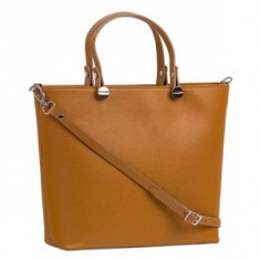 Brastini La Giulia piele geanta de mana maro natural - Geanta Dama