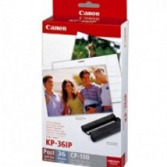 Cartus OEM Canon KP-36IP pachet cartus + Photo Paper 36 foto