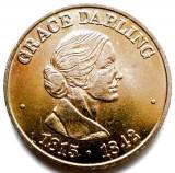Captain Morgan RNLI (1824-1974), Grace Darling (1815-1842) , DIAM 20mm., Europa, Bronz