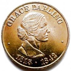 Captain Morgan RNLI (1824-1974), Grace Darling (1815-1842), DIAM 20mm., Europa, Bronz