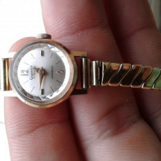 Ceas dama Gigandel Incabloc din aur, Mecanic-Automatic