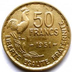 FRANTA, 50 FRANCS 1951, COCOSUL GALIC, URIASA 27mm., Europa, Bronz