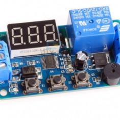 Releu de temporizare programabil 0.1-999 sec 12V