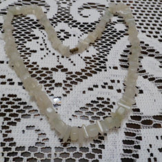 Colier alb onix pietre naturala