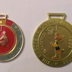 MMM - Lot 2 medalii diferite baschet Romania / 30 lei bucata