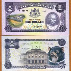 RARR : TASMANIA (AUSTRALIA) = FANTASY NOTE = 1 DOLAR 2017 - UNC