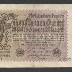 GERMANIA  500000000  500.000.000  MARCI  MARK  1923 [2]  P-110d/2  ,  XF+