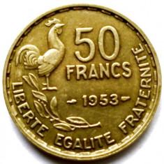 FRANTA, 50 FRANCS 1953, COCOSUL GALIC, URIASA 27mm., Europa, Bronz