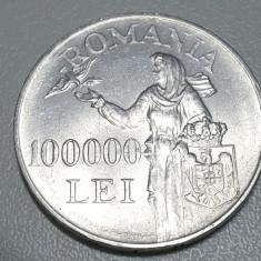 100000 LEI 1946 - Moneda Romania, Argint