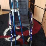 Scaun cu rotile+carje