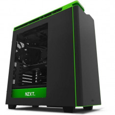 Carcasa NZXT H440 New Edition Black Green Window - Carcasa PC NZXT, Middle Tower