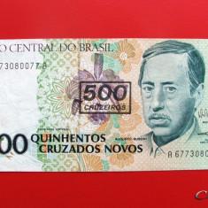 BRAZILIA - 500 Cruzeiros ND ( 1990 ) - bancnota america