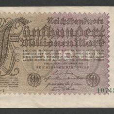 GERMANIA 500000000 500.000.000 MARCI MARK 1923 [1] P-110d/2, XF++ - bancnota europa
