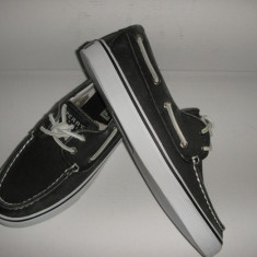 Tenisi/Pantofi dama SPERRY TOP SIDER originali noi tesut gri vintage 36 - Pantof dama Sperry, Culoare: Antracit, Textil, Cu talpa joasa