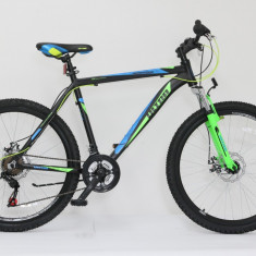 "Bicicleta Sport Bike 26""-echipare Shimano 460/480/520 mm - Mountain Bike, 19 inch, Numar viteze: 21, Aluminiu, MTB Full Suspension"