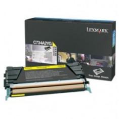 Cartus OEM Lexmark C734A2YG toner Yellow 6000 pagini