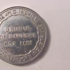 """MMM - Medalie """"Trustul de Constructii Industriale IASI / Grupul de Santiere Est"""""""