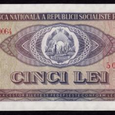 Romania, 5 lei 1966, UNC_serie G.0064~504843 - Bancnota romaneasca