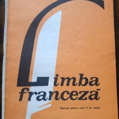 D - Manual limba franceza, anul V de studiu, 1989 - Manual scolar, Clasa 5, Limbi straine