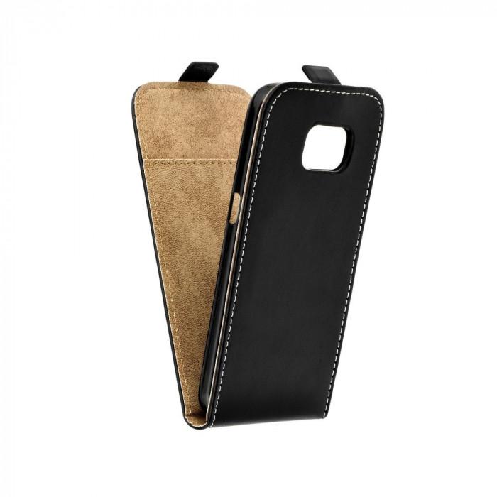 Husa Samsung Galaxy S7 Flip Slim Flexi Fresh Neagra foto mare