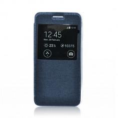 Husa Samsung Galaxy J1 S-View Flexi Bleumarina - Husa Telefon, Gel TPU