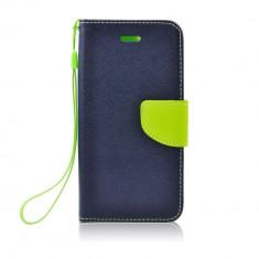 Husa Samsung Galaxy S5 / S5 Neo Fancy Book Bluemarin-Lime - Husa Telefon