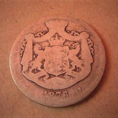 V- 2 lei 1876, rarut - Moneda Romania, Argint