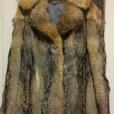 Haina din blana naturala de vulpe marimea 38, este noua! - haina de blana