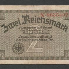 GERMANIA NAZISTA 2 MARCI MARK 1939 1940 1945 [18] Cu zvastica, P-R137a - bancnota europa