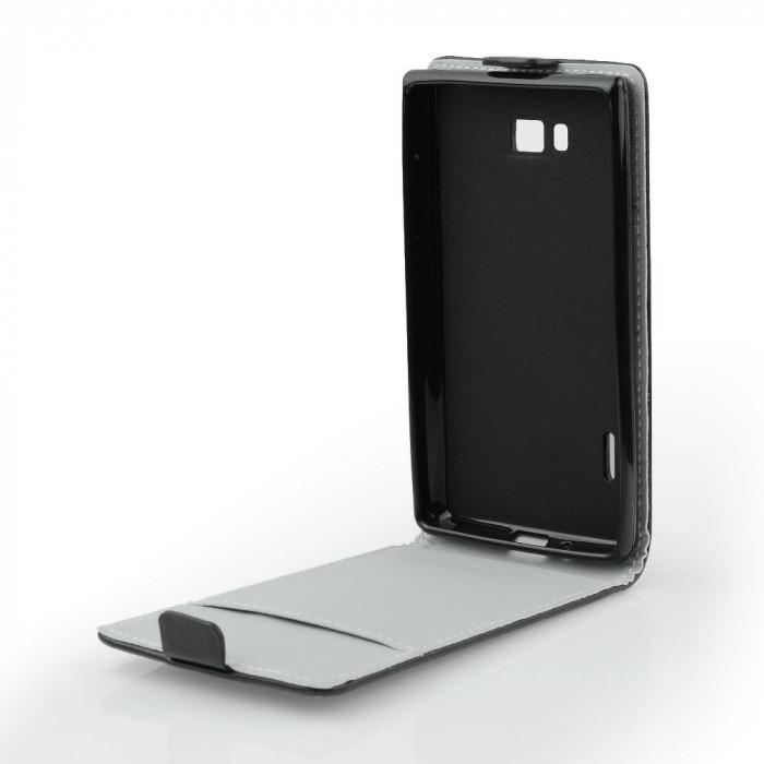 Husa Huawei P8 Lite/P9 Lite 2017 Flip Slim Flexi Neagra foto mare