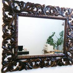 Rama sculptata din lemn masiv paltin - Oglinda living