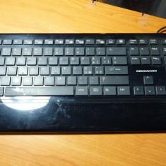 Tastatura PC Mediacom M-SKB7720 (15054 LOR), Multimedia, USB, Cu fir