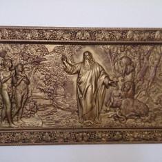 Tablou Geneza din lemn masiv paltin