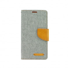 Husa Apple iPhone 4/4S Canvas Book Gri - CM03847, Vinyl