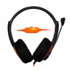 Casti Vakoss Msonic MH563KO Black / Orange, Casti Over Ear