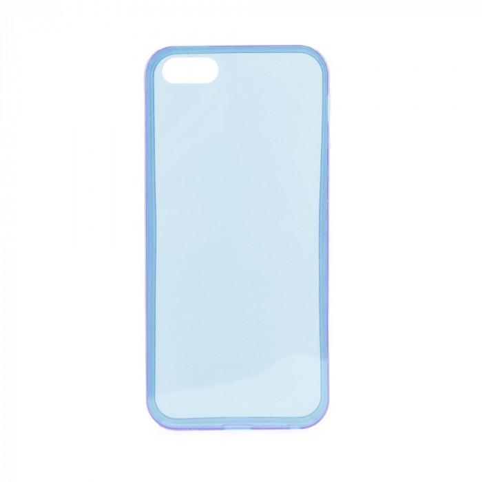 Husa Apple iPhone 4/4S Ultra Slim 0.3mm Albastra foto mare