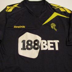 Tricou REEBOK fotbal - BOLTON WANDERERS FC (Anglia) - Tricou echipa fotbal, Marime: L, Culoare: Negru, De club, Maneca scurta