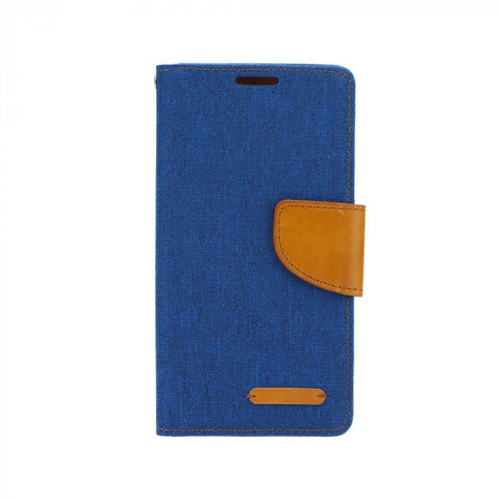 Husa Huawei P8 Lite Canvas Book Bleumarina foto mare