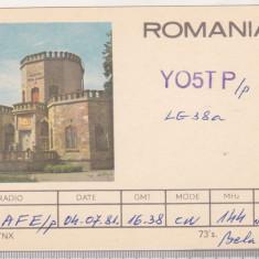 bnk cp Campina - Castelul Hasdeu -  carte postala QSL