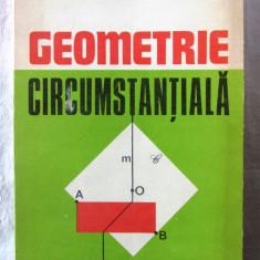 """GEOMETRIE CIRCUMSTANTIALA"", Dan Branzei, 1983. Carte noua, Alta editura"