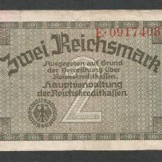 GERMANIA NAZISTA 2 MARCI MARK 1939 1940 1945 [20] Cu zvastica, P-R137a - bancnota europa