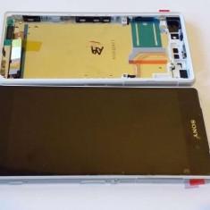 Display Cu TouchScreen Si Rama Sony Xperia Z2 Alb - Display LCD