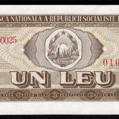 Romania, 1 leu 1966, UNC_serie F.0025~010300 - Bancnota romaneasca