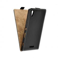 Husa Sony Xperia T3 Flip Slim Flexi Fresh - Husa Telefon, Piele Ecologica, Cu clapeta
