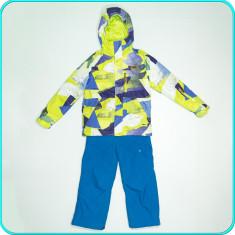 Costum—salopeta ski—iarna, impermeabil, gros, NO FEAR→ baieti | 7—8 ani | 128 cm - Echipament ski
