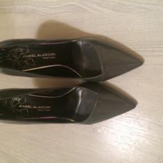 Pantofi dama - Pantof dama, Culoare: Nero, Marime: 37, Cu toc