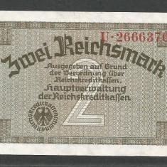 GERMANIA NAZISTA 2 MARCI MARK 1939 1940 1945 [24] Cu zvastica, P-R137a - bancnota europa