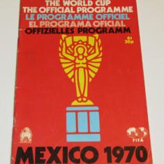 Program meci fotbal - Cupa Mondiala MEXICO 1970