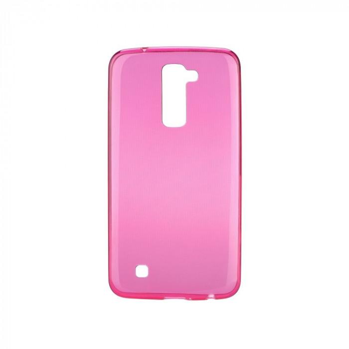 Husa LG K10 Ultra Slim 0.3mm Roz foto mare