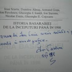 Ioan Scurtu - Istoria Basarabiei de la inceputuri pana in 1998-ION PAVELESCU/DED - Carte Istorie